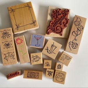 ASSORTED Stamps Singles Rubber Stamps